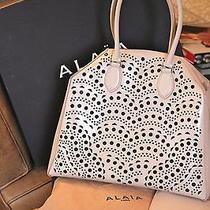 Alaia Blush Laser Cut Hand Bag Gently Worn Exquisite Photo