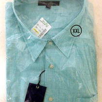 Alan Flusser Long Sleeve Dress Shirt Aqua Blue Xxl Brand New Sealed With Tags Photo