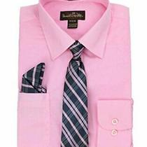 Alberto Danelli Boys Dress Shirt With Matching Tie and Blush Size  8gre Photo