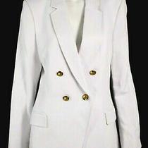 Alc a.l.c. 595 Nwt Chalk White Linen Cotton Sedgwick Blazer Jacket 12 Photo