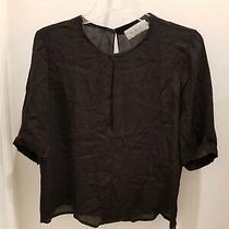 Alc Black Short Sleeved Blouse Top Size Medium Photo