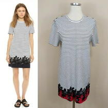 Alc Striped Floral Knit Dress Short Sleeves Stretchy M Medium Photo