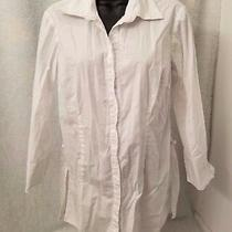 Alc Womens White Button Down Shirt Top Blouse Size M Photo