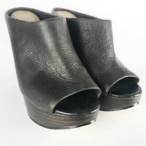 Aldo Aged Leather Two Tone Wedge Mule sz.7 Photo