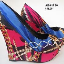 Aldo All Over Fun Print Platform Shoe Sz 6 Photo