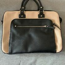 Aldo Black and Pink Faux Leather Messenger Laptop & Tablet Bag Photo
