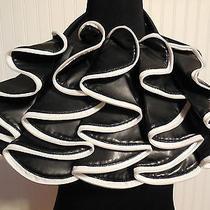 Aldo Black and White Purse Fun Funky Zippers Euc  Faux Leather Photo