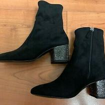 Aldo Black Ankle Boots With Glitter Heel - Size 38 Photo