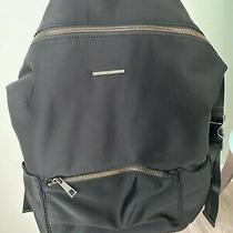 Aldo Black Backpack Nylon Adjustable Straps Inside/outside Pockets Photo