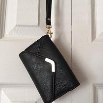 Aldo Black Faux Leather Envelope Iphone 4/4s Wristlet Cardholder Photo