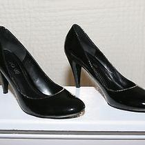 Aldo Black Lacquered Pumps Size 39 (Size 8.5) Photo