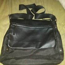 Aldo Black Laptop/messenger Bag With Long Strap Photo