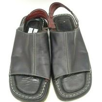 Aldo Black Leather Casual Slingback Slip on Open Toe Sandals Shoes Men's 41 / 8 Photo