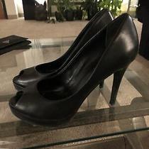 Aldo Black Peep Toe Platform Heels Size 9 Photo