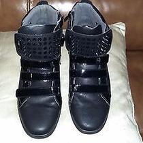 Aldo Black Sneakers With Black Pointy Studs Photo