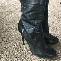 Aldo Black Soft Genuine Leather Ankle Boots Stiletto 3