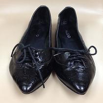 Aldo Black Soft Glove Leather Elasticized Ballet Ladies Womens Shoes 38 Photo