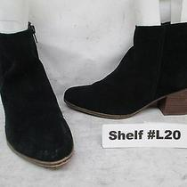 Aldo Black Suede Heeled Side Zip Ankle Boots Booties Womens Size 6.5 Guc Photo