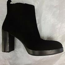 Aldo Black Suede Leather High Heel Slip on Ankle Boots Womens Size 10 Photo