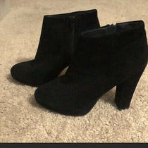 Aldo Black Suede Platform Booties Photo
