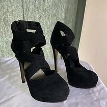 Aldo Black Suede Stiletto Heels Size 7.5 Sexy Gorgeous Clubwear Photo