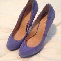 Aldo Blue Suede Pumps Photo