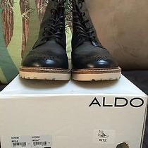 Aldo Boots Dapper Wingtip Brouge Captoe Vintage Dress Shoes Photo