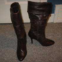 Aldo Brown Distressed Boots Photo