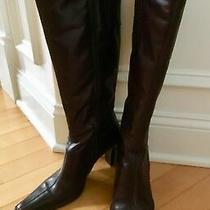 Aldo Brown Leather Boots Knee High Size 8 Euro 38 Gorgeous Photo