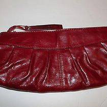 Aldo Burgundy Red Leather Clutch Bag Purse Pocket Book Photo