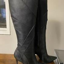 Aldo Calf Length Leather Boots Size 8 Photo