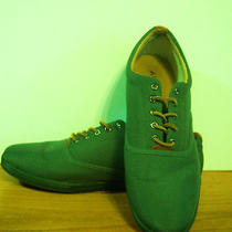 Aldo  Canvas Oxfords. Lace Up. Size 12.   Green. Gently Worn. Photo