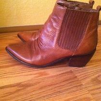 Aldo Cognac Ankle Boots Sz 38  Photo