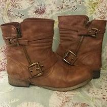 Aldo Cognac/brown Ankle Boots Size 8 Photo