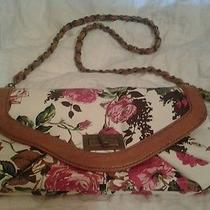 Aldo Cognac & Floral Purse Photo