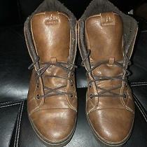 Aldo Cognac Leather Fur Lined Boots  Men's Size 13 Photo