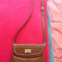 Aldo Cognac Messenger Bag With Gold Detailing Photo