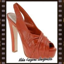 Aldo Destina Cognac Slingback Pumps S6 Photo