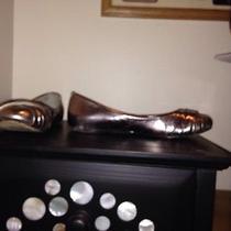 Aldo Distressed Flats Metalic  Photo