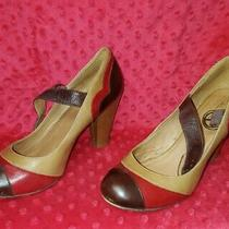 Aldo Equia 90 Tan Brown Red Pumps Womens Size 8 Shoes  Photo