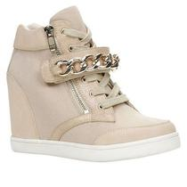 Aldo Eroerwen Wedge Sneakers Size Us 7 Bone Beige and Brand New With Box Photo
