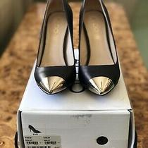 Aldo Essi Gold Tipped Toe Cap Heels (Size 7) Photo