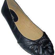 Aldo Fruity Women's Bow Vamp Ballet Flat Black Size 8.5 Usa 39 Eur Euc Photo