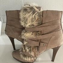 Aldo Fur Boots Tan White Size 8 Photo