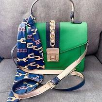 Aldo Glenda Satchel Green Navy Crossbosy Purse Bag Photo