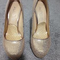 Aldo Gold Beautiful Heels Photo