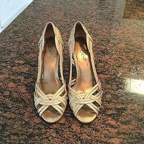 Aldo Gold Leather Heels Photo