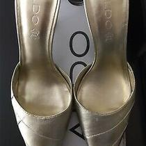 Aldo Gold Pumps 38 New in Box Photo