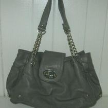 Aldo Gray Faux Leather Silver Accent Tote Purse Handbag Photo