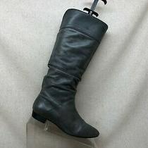 Aldo Gray Leather Pull on Slouch Fashion Mid Calf Boots Size 36 Eur Photo